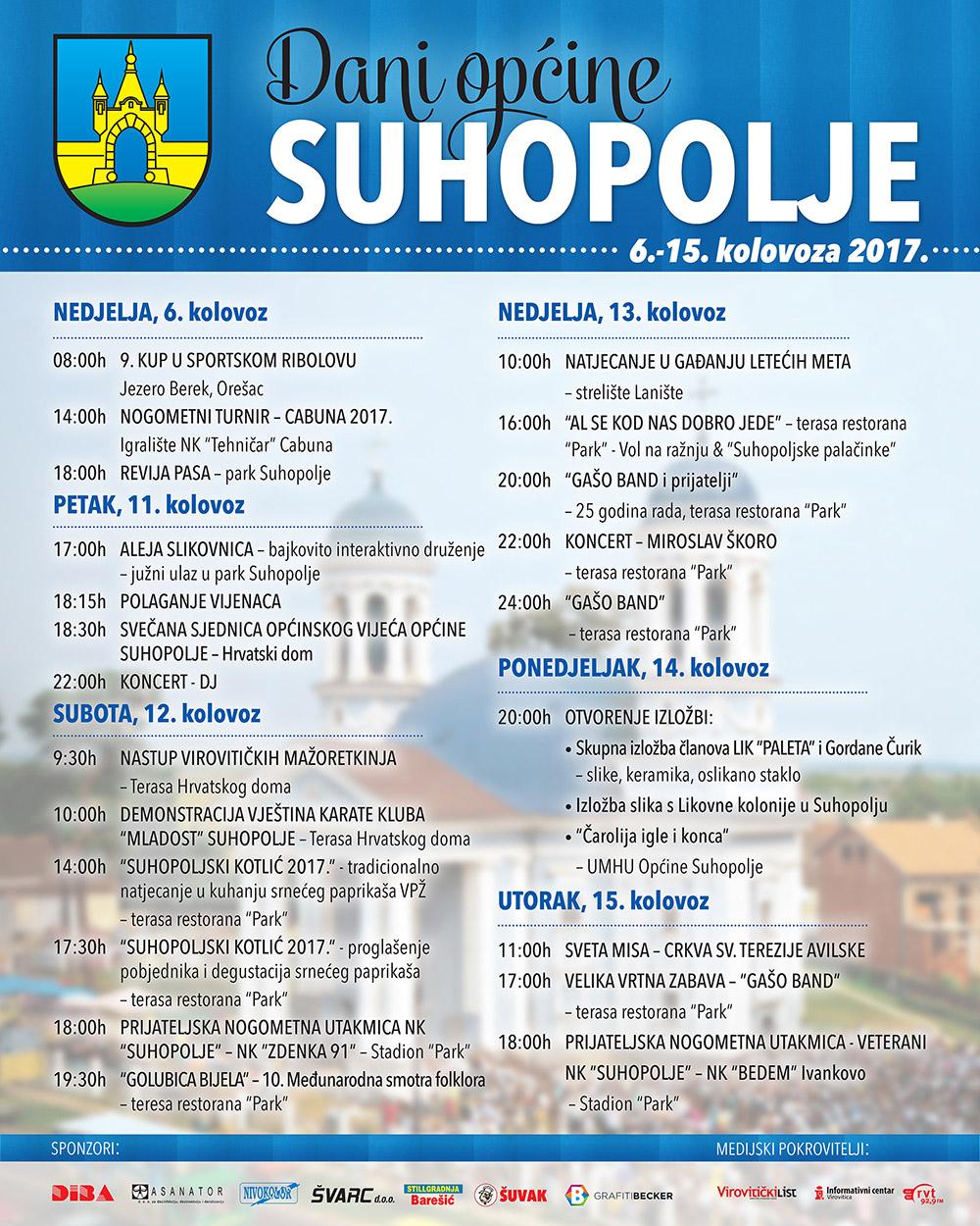 Dani općine Suhopolje 2017.
